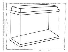 outline aquarium coloring pages template 1 here a setup of an aquarium tank empty - Fish Bowl Coloring Page Printable