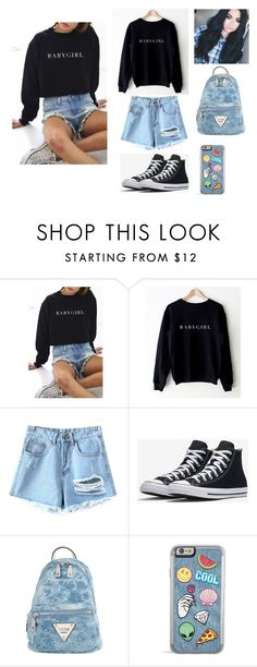 """""""You look good..."""" by elizabetta-i ❤ liked on Polyvore featuring WithChic, Chicnova Fashion and GUESS"""