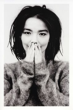 Bjork. Her beauty is very unusual, and part of it is the spirit, humour and aliveness that shines out of her.