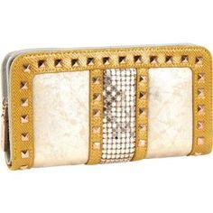 Nicole Lee Joanne Metallic Geometric Wallet (Gold): Sale: $23.64