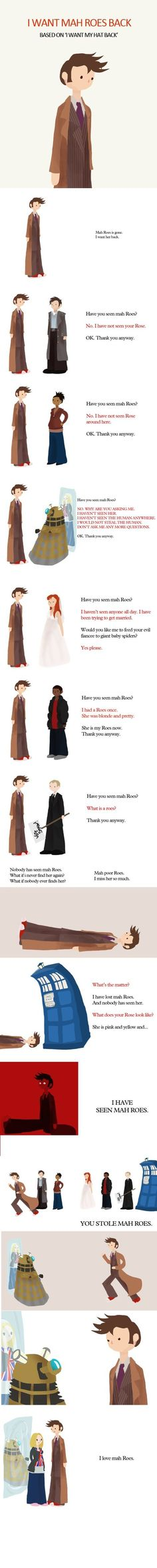 This made me cry because I'm a stupid fan girl. And because I really did love rose and the doctor together!