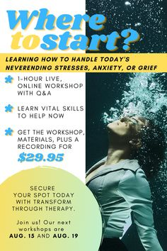 """NEW SPOTS AVAILABLE! Join us on August 15 or August 19 for our """"Where To Start: Prioritizing and Handling the Never Ending Stress, Anxiety or Grief"""" workshop. Only $29.95!  • It's always more than just one thing. Family, work, loss, uncertainty. When it rains it pours. We'll give you solid strategies that you can implement in your own life right now that will help you find shelter from the storm. • • • #stress #anxiety #grief #mentalwellness #onlinetherapy #teletherapy #grief #struggling… When It Rains, Prioritize, My Hero Academia, Grief, Never, Anxiety, Workshop, Stress, Therapy"""