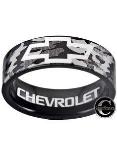 Chevy Silverado, Chevrolet Corvette, Chevrolet Logo, Western Outfits, Western Wear, Chevy Trucks For Sale, Camo Rings, Blue Wedding Rings, Cute Boyfriend Gifts