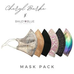 Face Masks – Bailey Blue Cheryl Burke, At Home Face Mask, Face Masks, Bailey Blue, Mirror Ball, Blue Mask, Cool Masks, Dancing With The Stars, Mask For Kids
