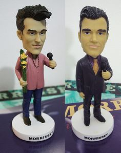 Morrissey bobble-heads Music Stuff, My Music, The Smiths Morrissey, Joy Division, Bobble Head, Will Smith, Twins, The Originals, Stay True