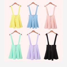 Sweet candy color strap dress