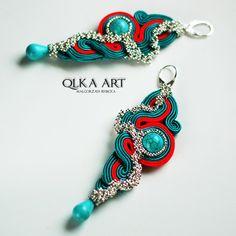 * Bajo pedido* Pendientes Soutache Femm * Largo *  de Qlka Art Boutique  por DaWanda.com