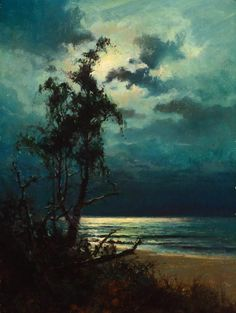Sydney Mortimer Laurence - Moonlight reflections