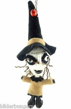 Shock Voodoo String Doll Key Chain Nightmare Before Christmas Halloween Witch