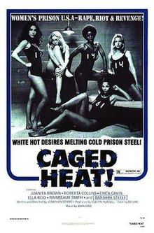 """Caged Heat (alternate title: Renegade Girls) is an exploitation film from 1974 of the """"women-in-prison"""" film genre. It was written and direc. Lee Van Cleef, Gene Kelly, Alfred Hitchcock, Escape Movie, Heat Movie, New Beverly Cinema, Ricki And The Flash, Old School Movies, Master P"""