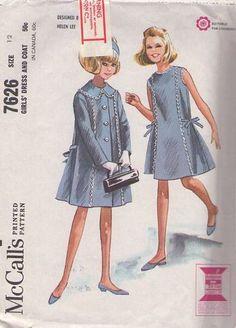 McCalls 7626 ~ vintage 1964 ensemble by Helen Lee