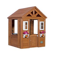 Amazon.com: Backyard Discovery Timberlake All Cedar Wood Playhouse: Toys & Games