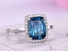 Fashion Aqua Blue Micro Pave Cubic Zircon Argent 925 Clous Poire Boucles d/'oreilles fille A20