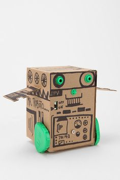 Box robot kit from Urban Outfitters - but you could easily make your own, couldn't you (without the motors and circuits, that is!)