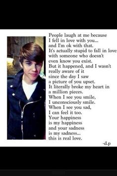 this is true i always get teased because i love Justin so much and it makes me sad and makes me want to cry!