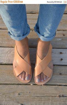 On sale Greek Leather Sandals Gladiator Sandals Ancient