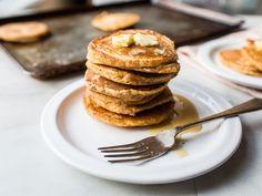 Rice Flour Pancakes | Food.com Egg Free Pancakes, Whole Wheat Pancakes, Pancakes And Waffles, Oatmeal Pancakes, Banana Pancakes, Finnish Pancakes, Peach Pancakes, Thin Pancakes, Yogurt Pancakes