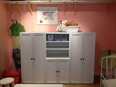 Stuva storage for the kids room, ikea Toy Storage, Locker Storage, Ikea Bedroom, Bedroom Ideas, Ikea Stuva, Activity Toys, Room Goals, Playroom Ideas, Ikea Hacks