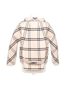 """Balenciaga by Nicolas Ghesquiere striped couture evening jacket, Sz. S  . Fall 2006 Molded plaid Jacket with an aline shape, back belt, and jeweled glass buttons. Jacket is iconic couture shape with incredible details and finishes and is a must have for any collector of Vintage Balenciaga. QUOTE """"Ghesquière's woman, in her amazing wardrobe of short, molded checked tweed suits with stand-away collars, rounded coats and mind-blowingly wrought evening dresses, radiated a powerful modernity""""…"""