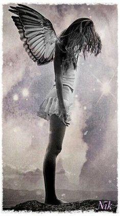 Foto Fantasy, Fantasy Kunst, Fantasy Art, Angels Among Us, Angels And Demons, Fallen Angels, Ange Demon, Angel And Devil, Sad Angel