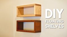 Check out Crafted Workshop's tutorial for building these floating shelves!