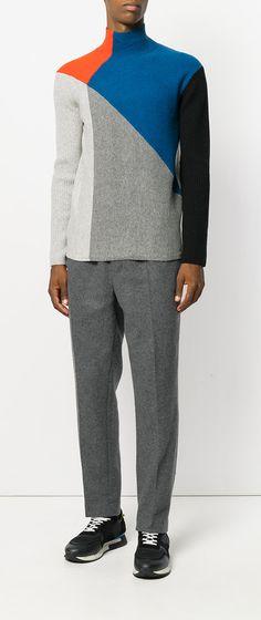 KENZO colour contrast sweater, explore new season Kenzo on Farfetch now.