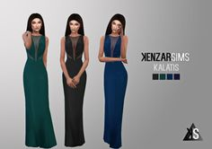 Kalatis dress at Kenzar Sims via Sims 4 Updates