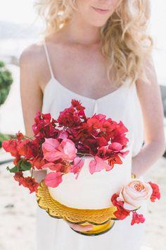 Coastal red and pink wedding ideas