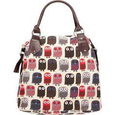 A delightful owl handbag.