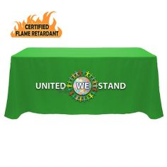 Flame Retardant Polyester Table Cover - Front Panel Print $179 MSRP List Price: $238 You Save: $59 (24%)