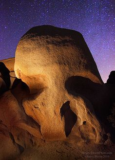Skull Rock & Stars - Joshua Tree National Park, California