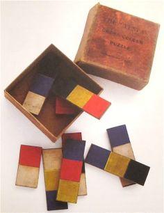 """Early avant-garde toys, The """"Tesa"""" Cross Colour Puzzle c. 1880"""