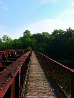 Bridge Across the Greenbrier River in Lowell, WV
