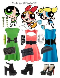 """""""The Powerpuff Girls 1"""" by rheebavn ❤ liked on Polyvore featuring French Connection, Oneness, Uniqlo, Wet Seal, Isabel Marant, Christian Louboutin, Chanel, STELLA McCARTNEY, Marc Jacobs and Kate Spade"""