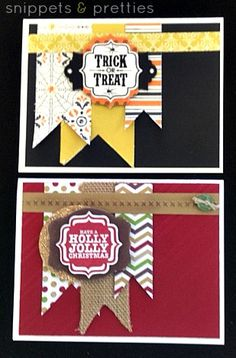 Snippets and Pretties: Flag cards
