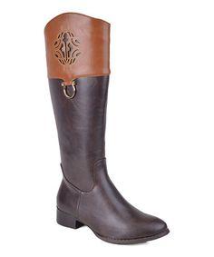 Another great find on #zulily! Brown Lornamy Boot #zulilyfinds