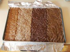 Homemade Larabars | Peanut Butter 1 c. peanuts 1 c. dates | Pecan Pie 1 c. mixed raw pecans & almonds 1 c. dates  | Cashew Cookie 1 c. cashews 1 c. dates | Coconut Cream Pie 1 c. mixed raw almonds & cashews 1 c. dates 1 c. shredded unsweetened coconut 2 T. coconut oil | Chocolate Almond (tastes like Snickers) 1 c. almonds 1 c. dates 1/2 c. dark chocolate (chips or block, chopped) 1 T. natural peanut butter | sarahsfares.blogspot.com