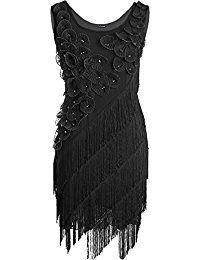 PrettyGuide Damen 1920er Vintage Franse Plus Size Flapper Charleston Kleider