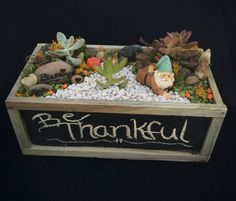 November is all about giving thanks and well wishes…and stuffing your face at Thanksgiving dinner. Ring in this holiday season the right way with terrariums that deliver positive vibes like this Be Thankful Terrarium