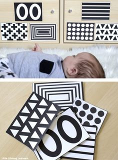 High contrast visual stimulation for newborns and babies with free printables