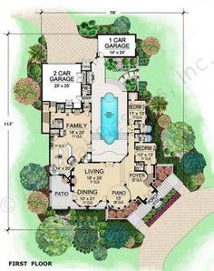 The Venetian House Plan First Floor Plan