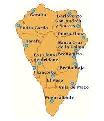 Map of La Palma, Canary Islands