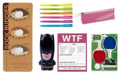 School supply essentials - Book Buddies Sticky Notes, Batman Novelty Flash Drive, Table Tennis and more!