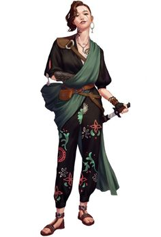 Sesus Chenow Saran, Captain of the ship Tumult, elder sister of Sesus Chenow Setsuna year) /// RPG Female Character Portraits Female Character Design, Character Creation, Character Design References, Character Design Inspiration, Character Art, Character Ideas, Dungeons And Dragons Characters, Dnd Characters, Female Characters