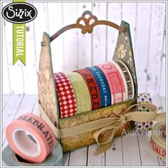Sizzix Die Cutting Tutorial | Washi Tape Storage Crate by Aida Haron