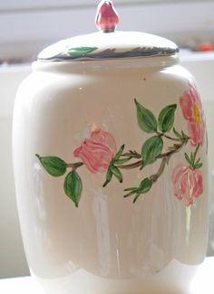 Franciscan Desert Rose Cookie Jar MADE in USA- Lovely-VINTAGE #Franciscan