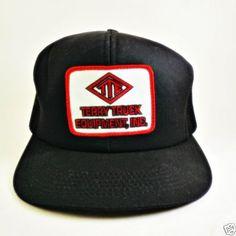 Terry-Truck-Equipment-Truckers-Snapback-Mesh-vintage-Trucker-Baseball-Hat-Ca