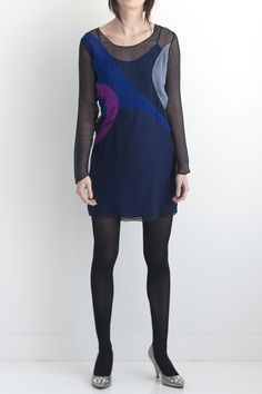 MIDNIGHT APPLIQUE DRESS FRONT buy now at www.graeyny.com