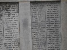 Les noms de ceux qui furent enrôlés et qui ont été aux fronts et ils y ont laissé leurs vies.