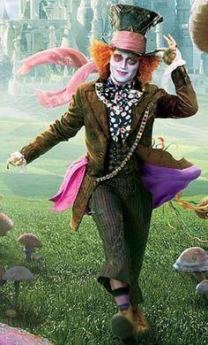 *MAD HATTER ~ Tim Burton's: Alice in Wonderland, 2010..  Starring Johnny Depp